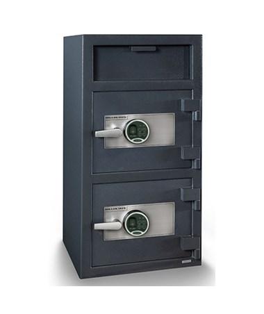 Hollon 40 x 20 Double Door B-Rated Depository Safe - 2 Biometric Locks FDD-4020EE-2BIO