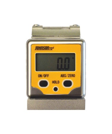 Johnson Aluminum Magnetic Digital Angle Locator with Level Vial 1886-0400
