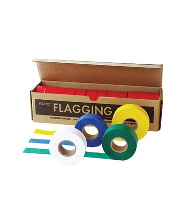 Keson Flagging Tape (Box of 12 Rolls) KESFT01GL-