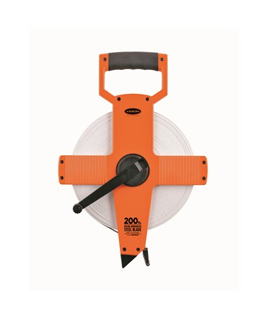 Keson Nylon-Reinforced Steel Blade 200-Foot Measuring Tape KESNR18200