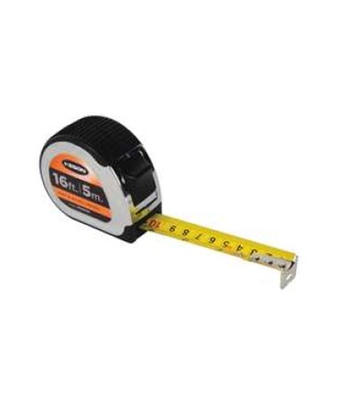 Keson 16 Feet Chrome Short Tape, Nylon Coated Blade, Feet, Inches, 1/8, 1/16 & cm, mm PG18M16