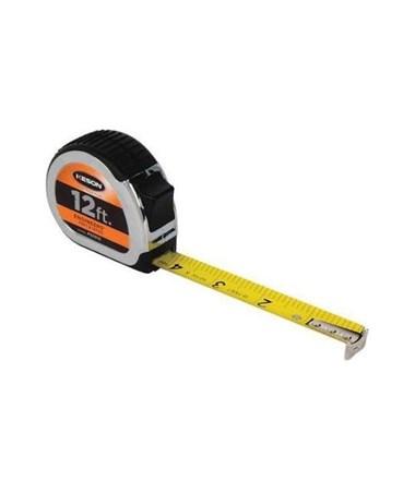 Keson 12 Feet Chrome Short Tape; Feet, 1/10, 1/100 with 5/8-inch Blade PG1012