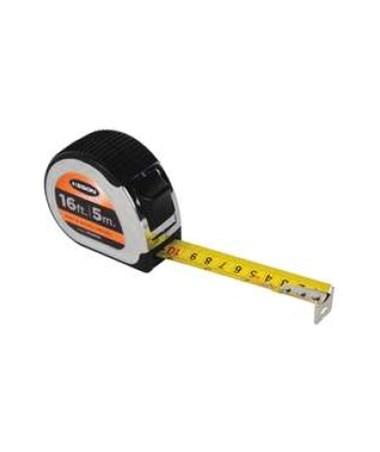 Keson 16 Feet Chrome Short Tape; Feet, Inches, 1/8, 1/16 & cm, mm with 1-inch Blade PG18M16