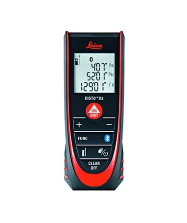 Leica Disto D2 - NEW Laser Distance Meter (with Bluetooth) LEI838725