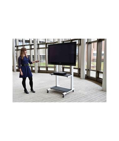 Luxor Crank Adjustable Flat Panel TV Cart CLCD