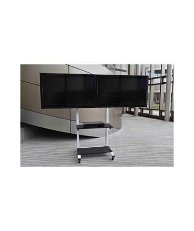 Luxor Crank Adjustable Dual Flat Panel TV Cart CLCD-DUAL