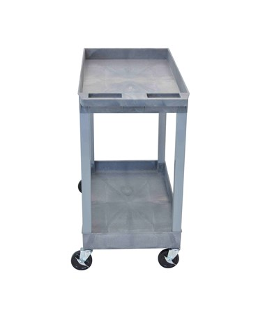 Luxor Utility Cart Two Tub Shelves EC11-G