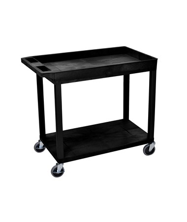 Luxor Utility Cart Tub Top Flat Bottom Shelves LUXEC12