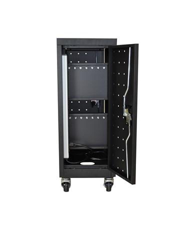 Luxor 16 Capacity Tablet Chromebook Charging Cart Back LLTM16-B-V2