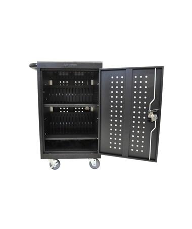 Luxor 30 Capacity Tablet Chromebook Charging Cart Front LLTM30-B