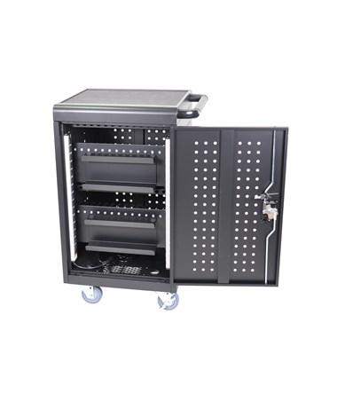 Luxor 30 Capacity Tablet Chromebook Charging Cart Back LLTM30-B