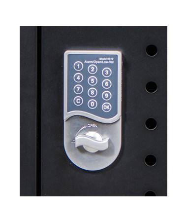 Luxor 30 Capacity Tablet Chromebook Charging Cart Keypad Lock LLTM30-B-KP
