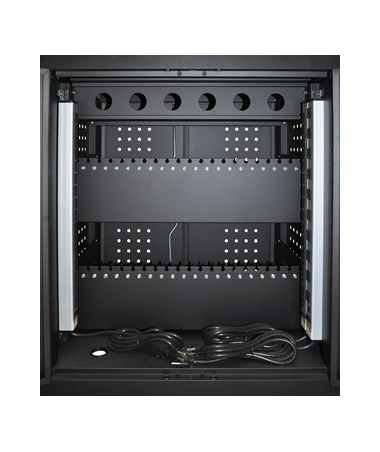 Luxor 42 Capacity Tablet Chromebook Charging Cart Back LLTM42-B