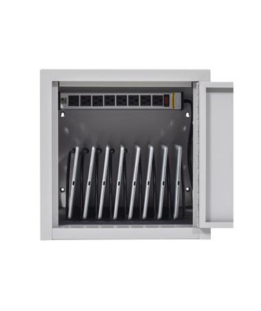 Luxor 8 Capacity Tablet Wall Desk Charging Station LLTMW8-G