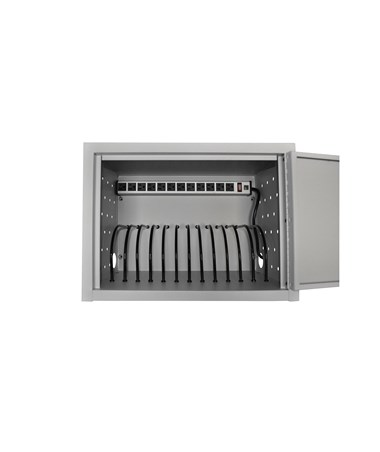Luxor 12 Capacity Tablet Wall Desk Charging Station LLTMW12-G
