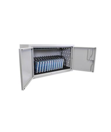 Luxor 16 Capacity Tablet Wall Desk Charging Station LLTMW16-G