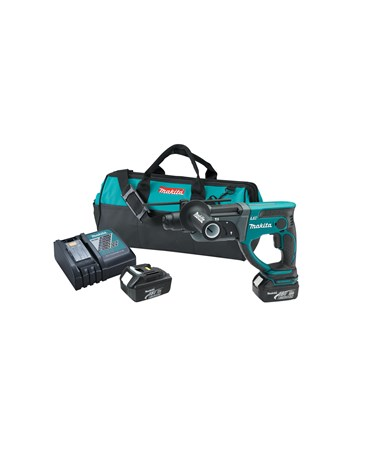 "Makita BHR202 18V LXT Lithium-Ion SDS-Plus Cordless 7/8"" Rotary Hammer Kit MAKBHR202"