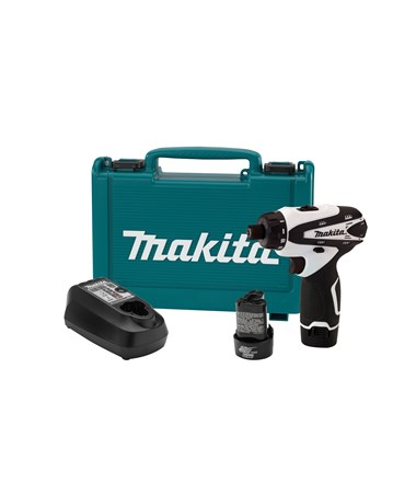 "Makita FD01W 12V Max Lithium-Ion Cordless 1/4"" Hex Driver-Drill Kit MAKFD01W"