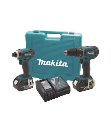Makita LXT211 18V LXT Lithium-Ion Cordless 2-Pc. Combo Kit BHP452Z, BTD141Z MAKLXT211