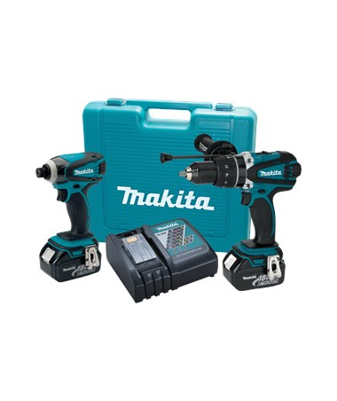 Makita LXT218 18V LXT Lithium-Ion Cordless 2-Pc. Combo Kit BHP454Z, BTD141Z MAKLXT218