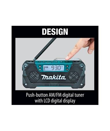 Makita 12V Max CXT Lithium-Ion Cordless Compact Job Site Radio MAKRM02