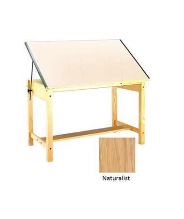 Mayline Ranger Wood Four Post Drawing Table Naturalist 7706