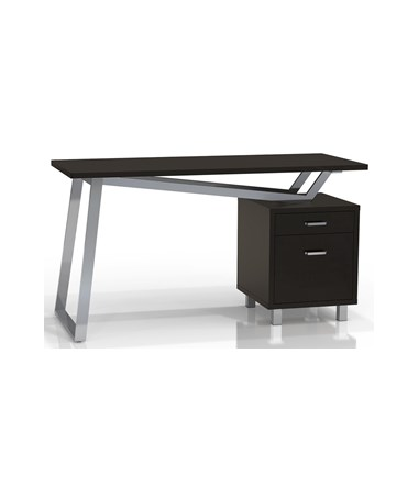 Mayline SOHO V-Desk with Black Laminate Top MAY1001VL