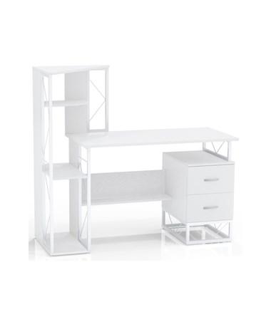 Mayline SOHO Storage Desk, White MAY1002