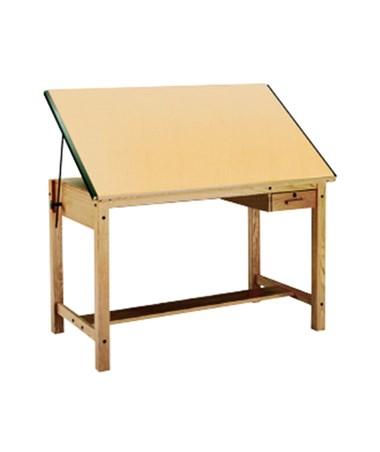 Mayline Ranger Drafting Table MAY7706-U Natural Oak Finish