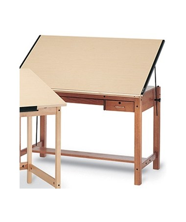 Mayline Wood Four-Post Drafting Table MAY7706-U