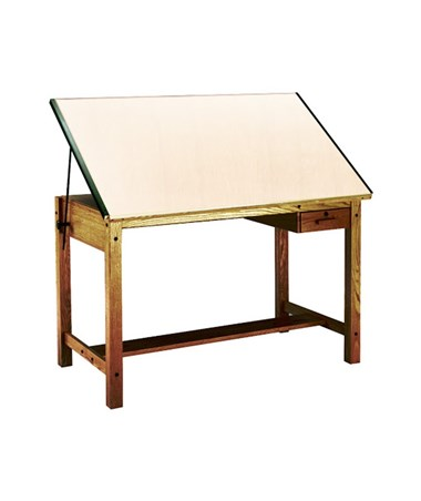 Mayline Ranger Drafting Table with Tool Drawer MAY7706A Golden Oak