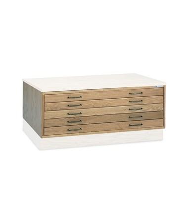 Mayline Five-Drawer Wood Plan File 7717C-