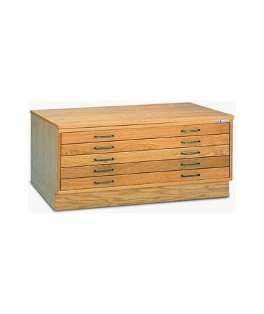 Mayline 5 Drawer Wood Flat File 36 x 48 MAY7719C