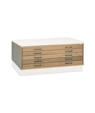 Mayline 5 Drawer Wood Plan File 36 x 48 7719C