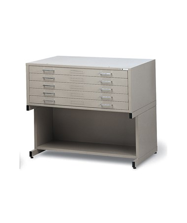 Mayline C-File 5-Drawer Steel Flat File with Optional High Base
