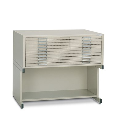 Mayline C-File 10-Drawer Steel Flat File with High Base