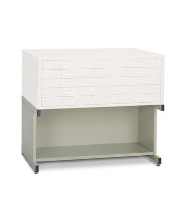 Mayline 20-inch High Base with Bookshelf MAY7877 Pebble Gray