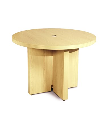 Mayline Aberdeen Series 42-Inch Round Conference Table MAYACTR42 Maple