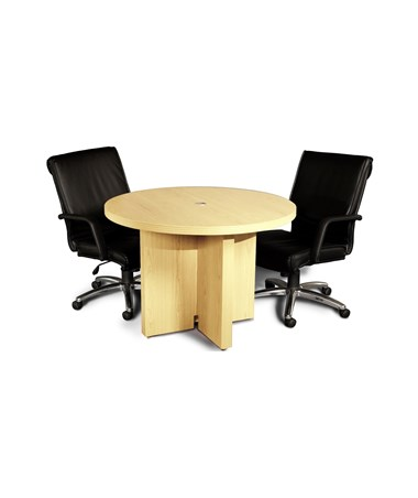 Mayline Aberdeen Series 42-Inch Round Conference Table with Chairs MAYACTR42 Maple