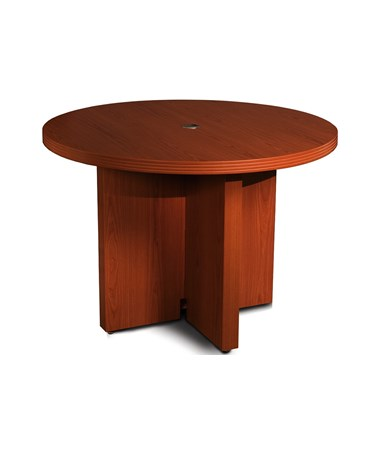 "Aberdeen Series 42"" Round Conference Table Cherry Tf Laminate MAYACTR42LCR"
