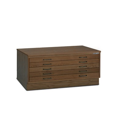 Mayline 5 Drawer Wood Plan File 30 x 42 7718C