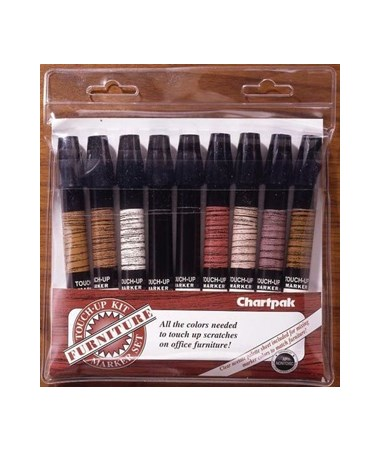 Chartpak Furniture Touch Up Marker Kit 9 Kit Tiger Supplies