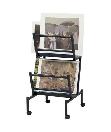 "Double Print and Poster Holder, Black 22"" x 24"" x 41"" PHR200-BK"
