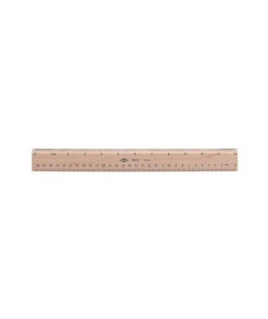 WOODEN RULER 12  INCH/METRIC R212