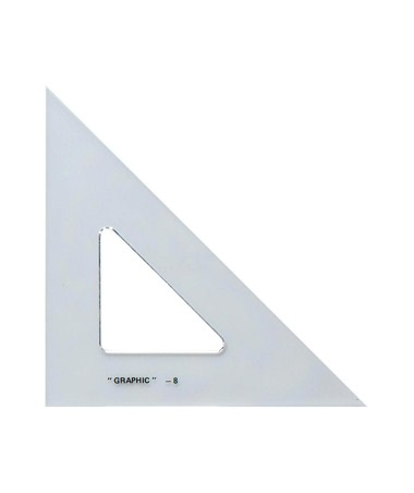 ALVIN Academic Transparent Triangles 45/90 4 S1450-40