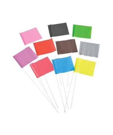 Stake All Plain PVC Pin Flag (1,000 Per Box) SACPF4518PL-