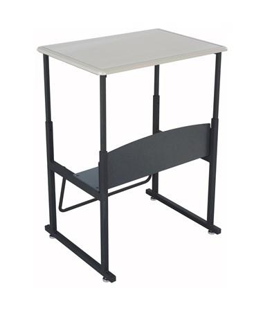 Safco  AlphaBetter Adjustable-Height Stand-Up Desk and Swinging Footrest Bar SAF1201BE