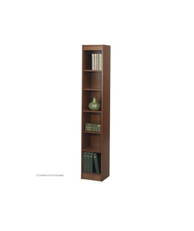 "SAFCO1511-6-Shelf Veneer Baby Bookcase, 12""W SAF1511"