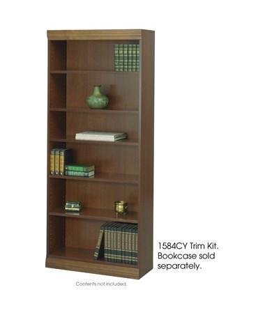Safco Square-Edge Veneer Bookcase 36-Inch Wide Trim Kit, Cherry SAF1584CY
