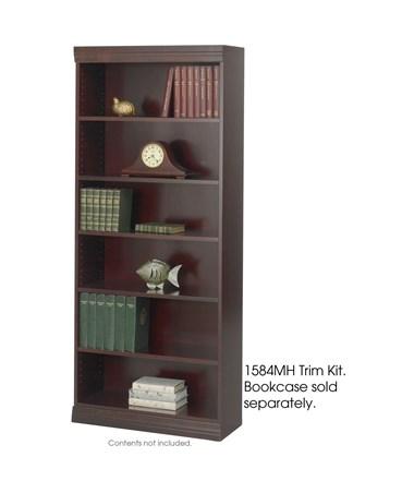 Safco Square-Edge Veneer Bookcase 36-Inch Wide Trim Kit, Mahogany SAF1584MH